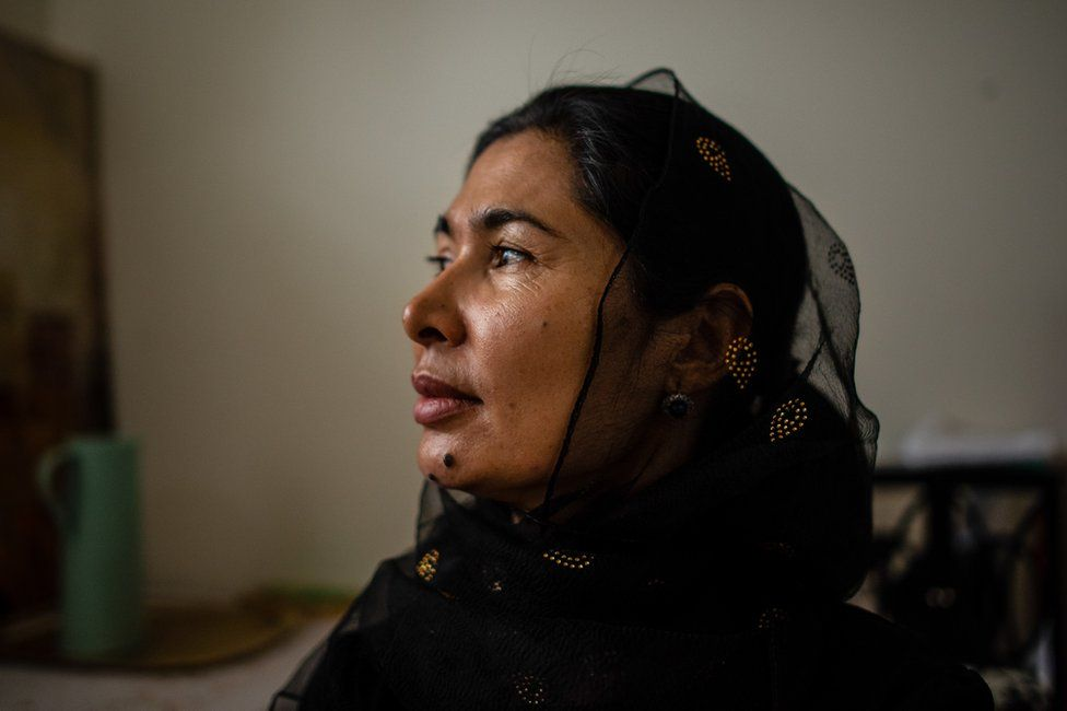 Tursunay Ziawudun, who spent nine months inside China's network of internment camps.